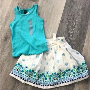 Gap skirt and top set